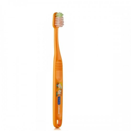 Детская зубная щетка VITIS JUNIOR от 6 лет оранжевая в п/э упаковке