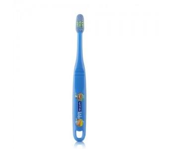 Детская зубная щетка VITIS KIDS от 3 лет синяя в п/э упаковке