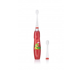 Звуковая зубная щетка Brush-Baby KidzSonic от 3 лет Дино 2 насадки
