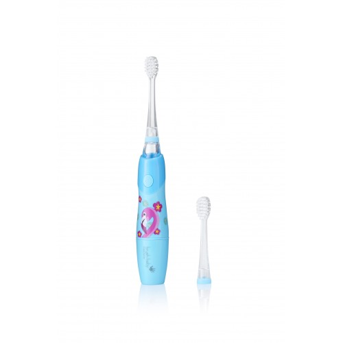 Звуковая зубная щетка Brush-Baby KidzSonic от 3 лет Фламинго 2 насадки