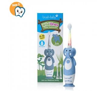 Звуковая зубная щетка Brush-Baby от 0 до 10 лет Слоник 2 насадки