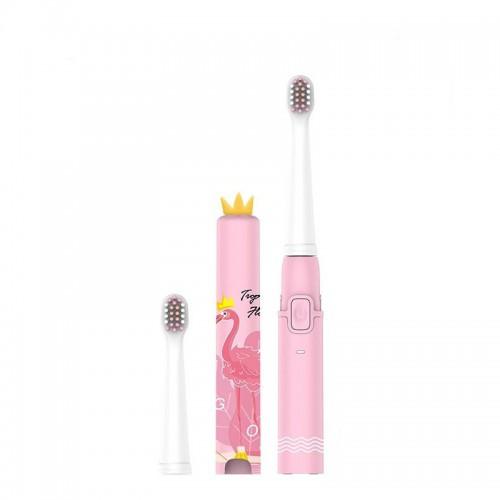 Детская звуковая зубная щетка Seago EK9 Flamingo Pink от 3 лет 2 насадки