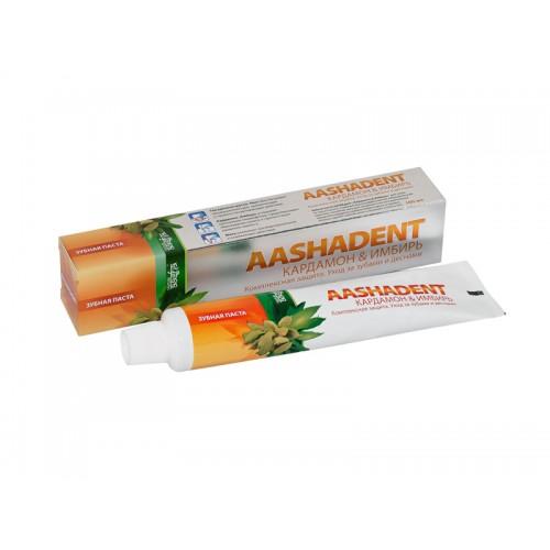Зубная паста Aasha Herbals Кардамон-Имбирь 75 мл