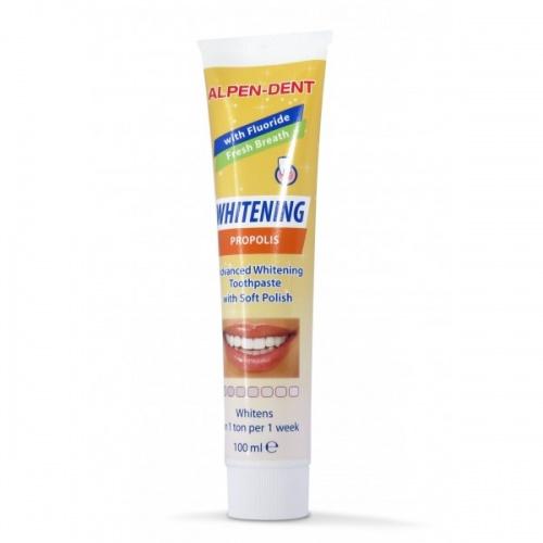 Отбеливающая зубная паста Alpen Dent с прополисом 100 мл