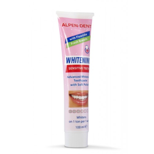 Отбеливающая зубная паста Alpen Dent для чувствительных зубов 100 мл