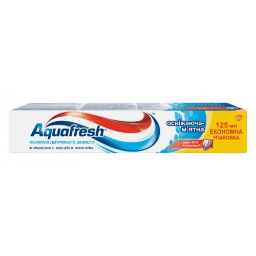 Зубная паста Aquafresh Тройная защита Освежающе-мятная 125 мл