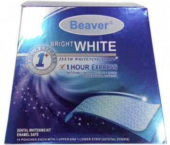 Полоски для отбеливания зубов Beaver Bright White 1-Hour Express