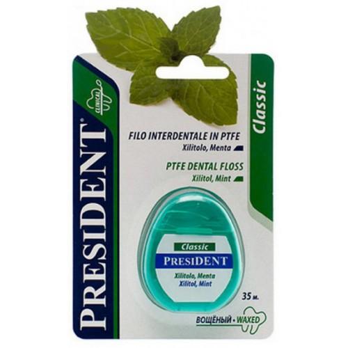 Зубная нить (флосс) President Ксилитол и мята 35 м