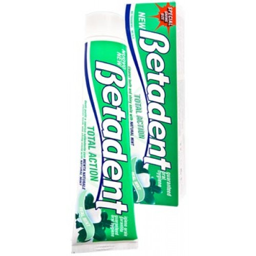 Зубная паста Betadent Total Action зеленая 125 мл