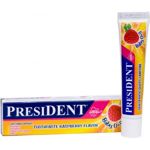 Детская зубная паста President Baby Малина от 6 месяцев до 3 лет 30 мл