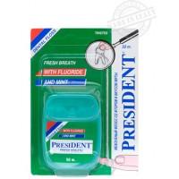 Зубная нить (флосс) President Фтор и мята 50 м