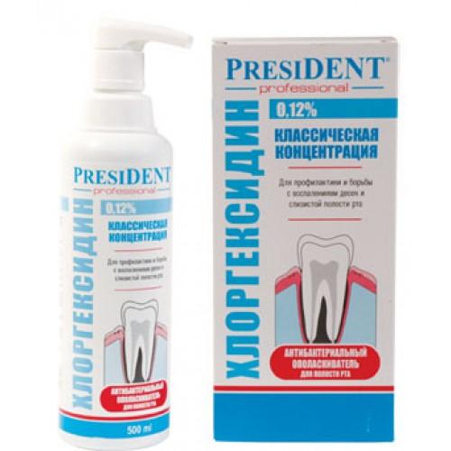 Ополаскиватель President Professional с хлоргекседином 0,12% 1 л