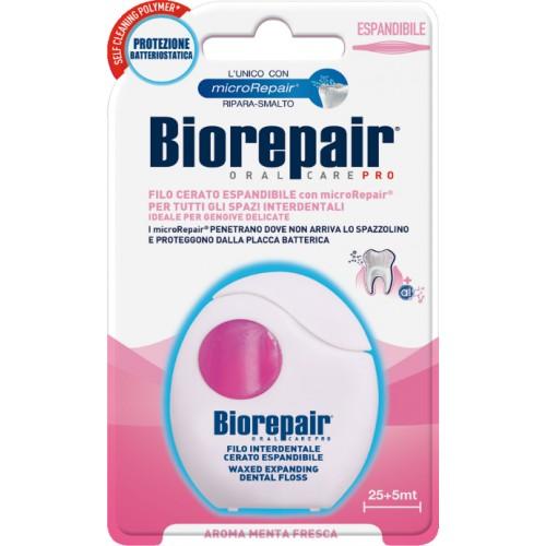Зубная нить (флосс) Biorepair расширяющаяся с гидроксиапатитом и гиалуроновой кислотою 30 м