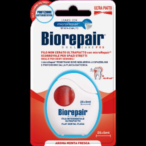 Зубная нить (флосс) Biorepair расширяющаяся с гидроксиапатитом и цинком РСА 30 м