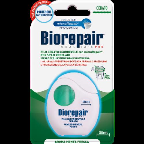 Зубная нить (флосс) Biorepair расширяющаяся с гидроксиапатитом 50 м