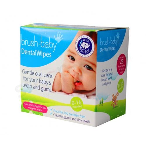 Стоматологические салфетки Brush-Baby Dental Wipes, 28 шт