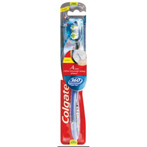 Зубная щетка Colgate 360 Межзубная чистка средняя жесткость