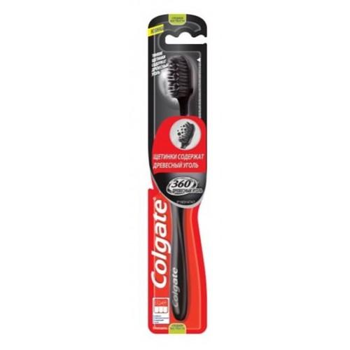 Зубная щетка Colgate 360 Древесный уголь средняя жесткость