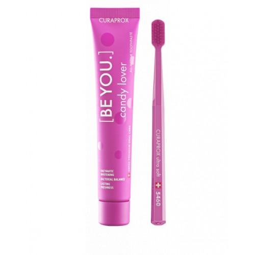 Зубная паста и зубная щетка Curaprox Be You Pink 90 мл