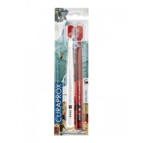 Набор зубных щеток Curaprox Ultrasoft CS 5460 Swiss 2 шт