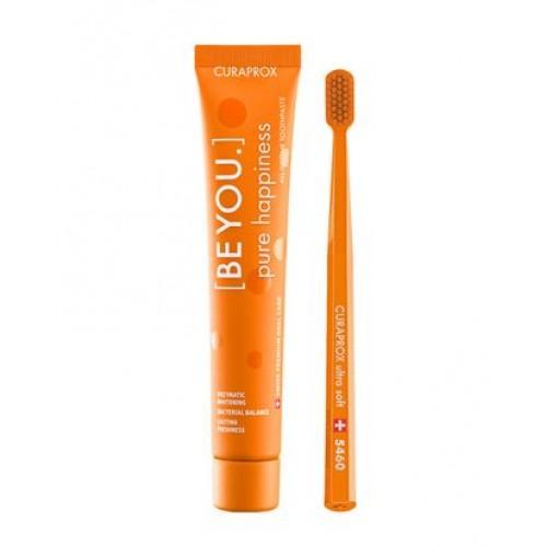 Зубная паста и зубная щетка Curaprox Be You Orange 90 мл