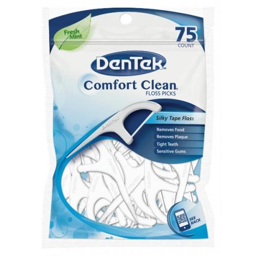 Флосс-зубочистки DenTek Комфортное Очищение 75 шт