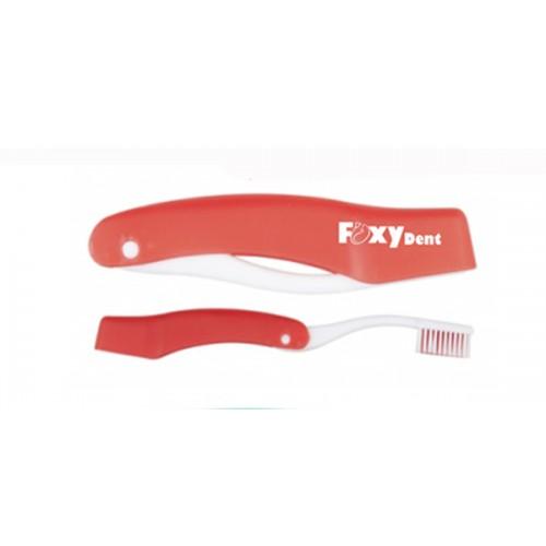Дорожная зубная щетка FoxyDent Total Красная средней жесткости