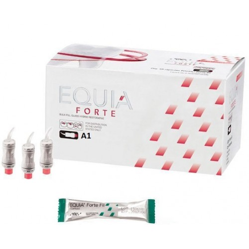 EQUIA Forte Fil стеклоиономер химического отверждения цвет А1 50 капсул