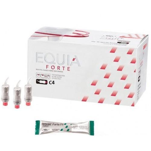 EQUIA Forte Fil стеклоиономер химического отверждения цвет C4 50 капсул
