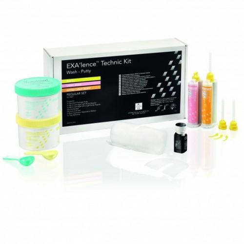 EXA'lence оттискной материал набор 2x500 г + 2x48 мл (Light Body Regular+ Extra Light Body Regular)+аксессуары