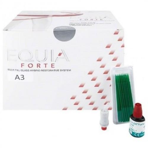 EQUIA Forte Clinic Pack стеклоиономер химического отверждения цвет A3 200 капсул + EQUIA Forte Coat 4 мл