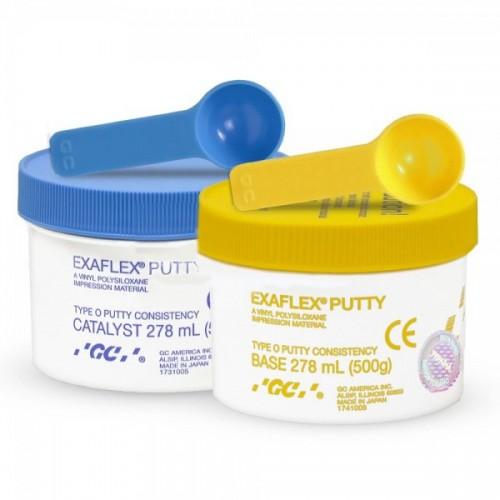 EXAFLEX PUTTY оттискной материал (500 г база + 500 г катализатор)