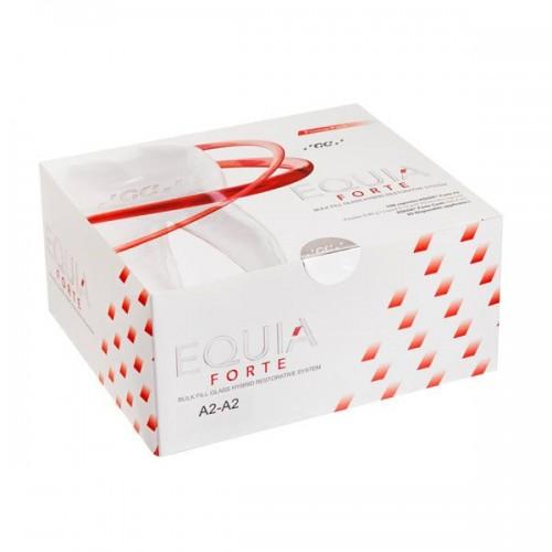 EQUIA Forte Promo Pack  стеклоиономер химического отверждения цвет A2-A2 2 уп. x 50 капсул EQUIA Forte Coat 4 мл