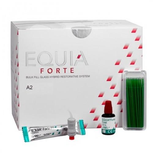 EQUIA Forte Clinic Pack стеклоиономер химического отверждения цвет A2 200 капсул + EQUIA Forte Coat 4 мл