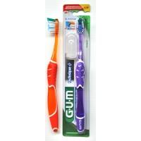 Зубная щетка GUM Technique+ Compact средняя жесткость