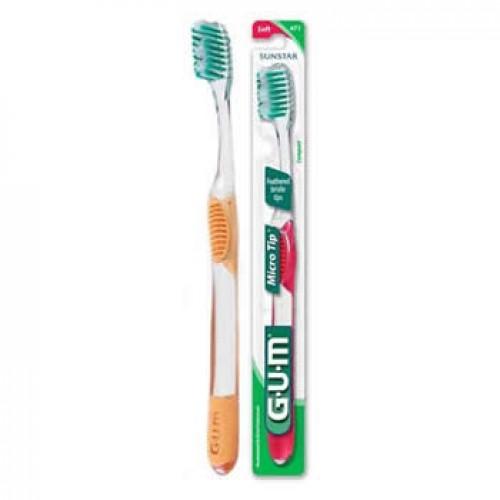 Зубная щетка GUM MicroTip Compact средняя жесткость
