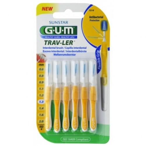 Межзубные ершики GUM TravLer 1.3 мм 6 шт