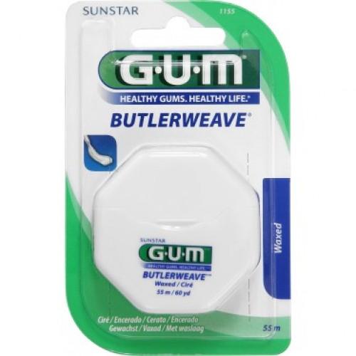 Зубная нить GUM ButlerWeave Вощеная 55 м