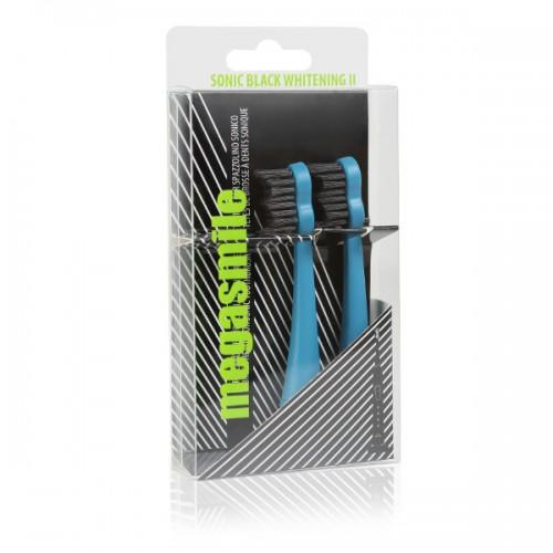 Насадки для гидроактивной звуковой зубной щетки Megasmile Блэк Вайтенинг Голубые 2 шт