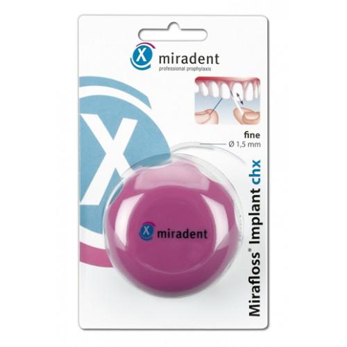 Зубная нить (флосс) Miradent Mirafloss® lmplant тонкая 1,5 мм 50 шт