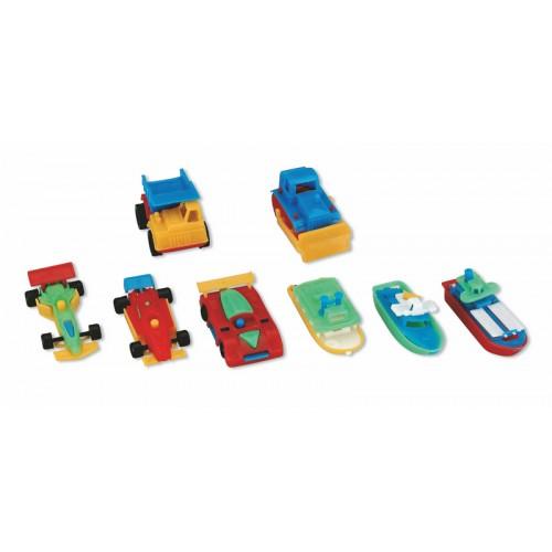 Мотивационные игрушки Miradent Miniature cars and boats 100 шт