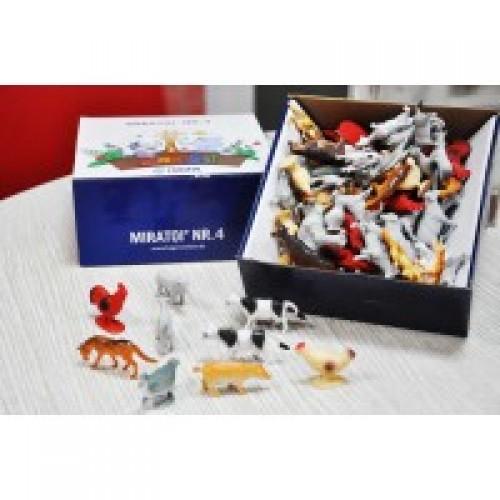 Резиновые игрушки Miradent Дикие животные 100 шт