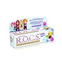 Детская зубная паста Rocs kids Фруктовый рожок без фтора от 3 до 7 лет 35 мл