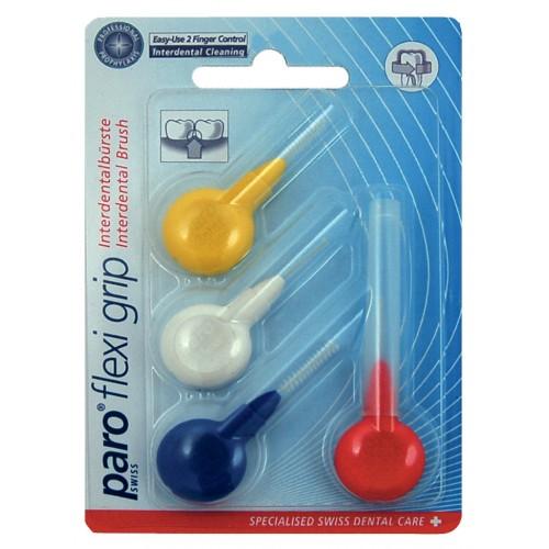 Набор межзубных ершиков paro® Flexi-Grip 4шт разных размеров