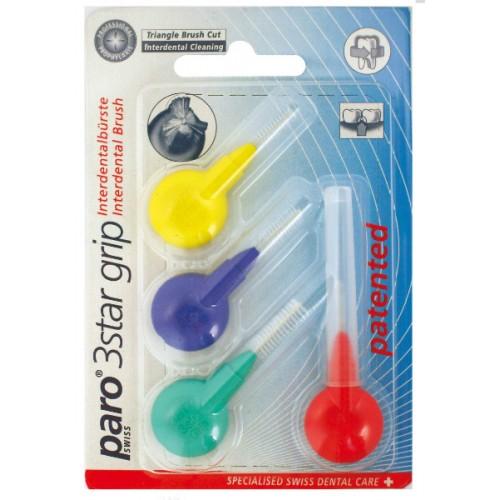 Набор межзубных ершиков paro® 3Star-Grip 4шт разных размеров