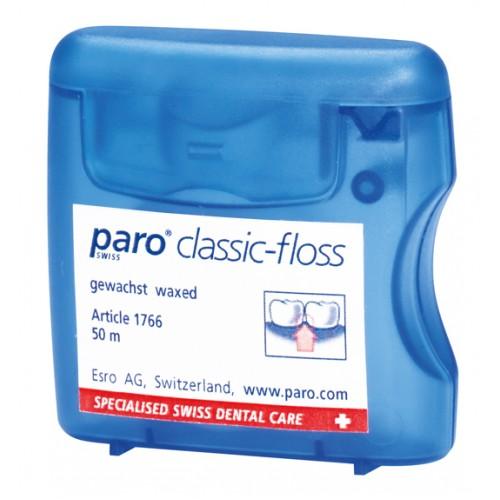 Зубная нить (флосс) paro® Classic-Floss вощеная 50 м