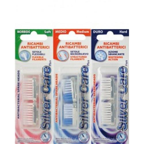Сменные головки для зубной щетки Silver Care Plus Дельфин мягкая 2 шт