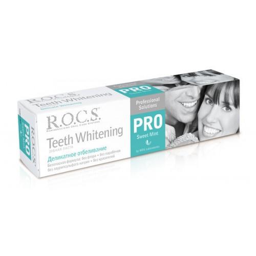 Отбеливающая зубная паста Rocs Pro Деликатное отбеливание Sweet Mint 135 мл