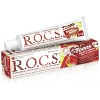 Зубная паста Rocs Teens Вкус активного дня Кола и лимон от 8 до 18 лет 60 мл