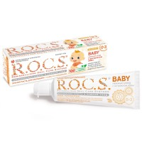 Детская зубная паста Rocs baby с экстрактом айвы от 0 до 3 лет 35 мл